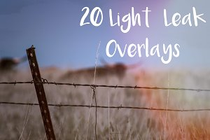 20 Light Leak Overlays - Pack 2