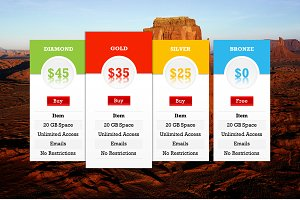 Pricing Tables 2 PowerPoint Template