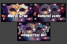 Carnival-Mardi Gras Party Flyer Temp