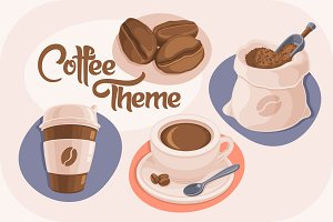 4 Coffee Theme Icons
