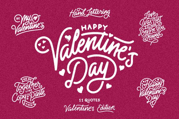 Valentine S Day Hand Lettering Graphic Objects Creative Market