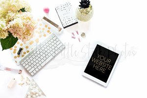 #105 PLSP Styled Tablet Stock Photo