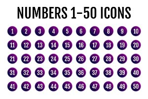 Numbers 1-50 Icons
