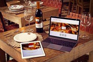 Wine Bottle, iPad Air 2, Macbook