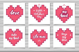 Lettering Valentine's Day cards