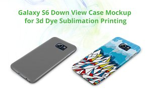 Galaxy S6 3d Case Down Mock-up