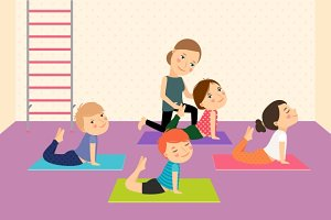 Kids yoga with Instructor