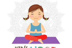 Kid yoga logo