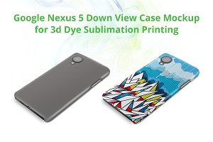 Nexus 5 3d Case Down Mock-up