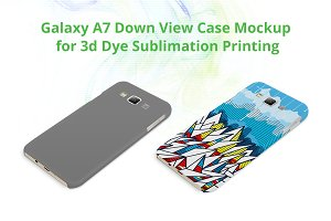 Galaxy A7 3d Case Down Mock-up