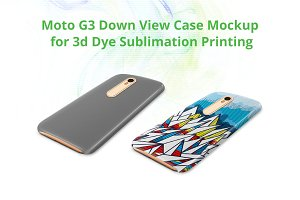 Moto G3 3dCase Down Mock-up