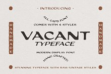 Vacant Typeface