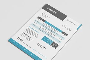 Modern corporate MS Word invoice