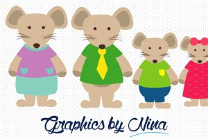 Mouse Family Clipart