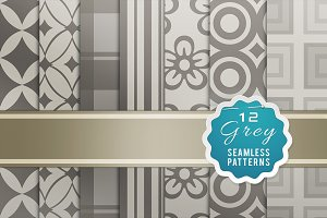 Grey Seamless Patterns