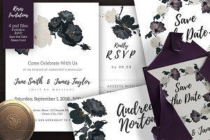 Roses Wedding Invitation Set