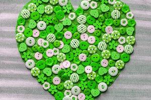 corazon de botones