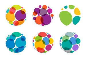 6 Dots sphere icons