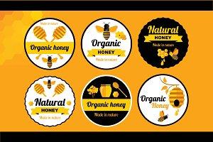 6 Badges honey&bee