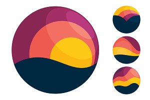 4 sunset icons