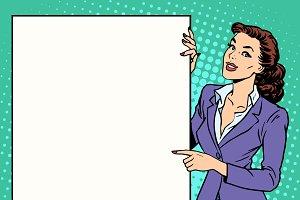 Poster businesswoman
