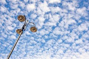 Street lamp against sky