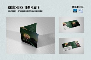 Square Funeral Program Template-V356