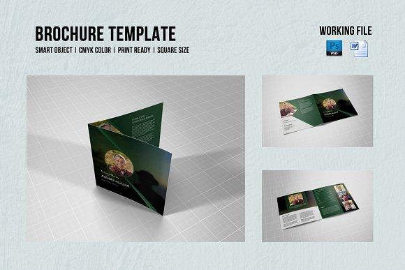 Square Funeral Program Template-V356