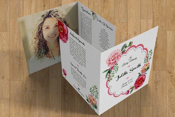 Funeral Program Template-V357 in Brochure Templates