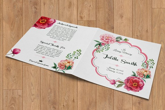 Funeral Program Template-V357 in Brochure Templates - product preview 1