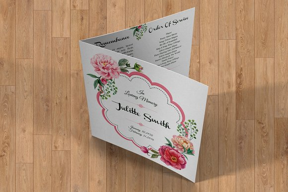 Funeral Program Template-V357 in Brochure Templates - product preview 2