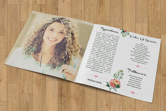Funeral Program Template-V357 in Brochure Templates - product preview 3