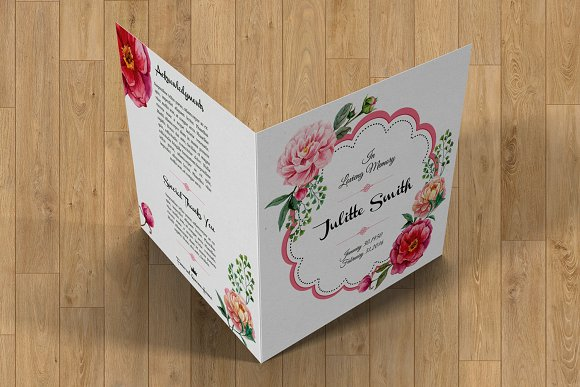 Funeral Program Template-V357 in Brochure Templates - product preview 4