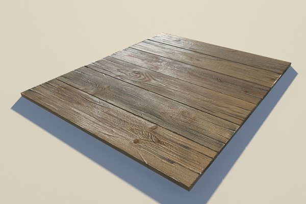 3D Furniture Models - wood planks