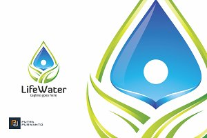 Life Water - Logo Template