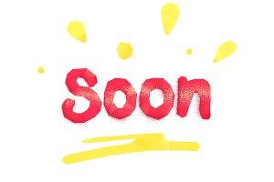 Soon polygonal lettering
