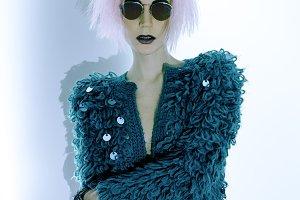 Glamorous Sexy Lady Vamp in fashiona