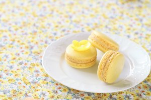 Yellow Macarons