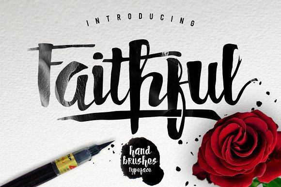 faithful typeface script fonts creative market