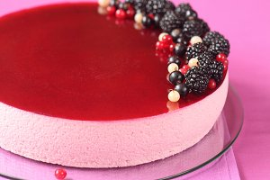 Black Currant Mousse Cake