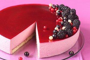 Black Currant Mousse Cake