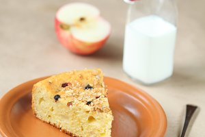 Piece of Rustic Fruit Cake