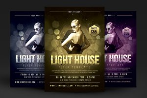 Light House Party Flyer