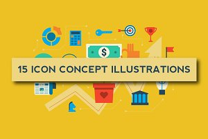 15 Icon Concept Illustrations