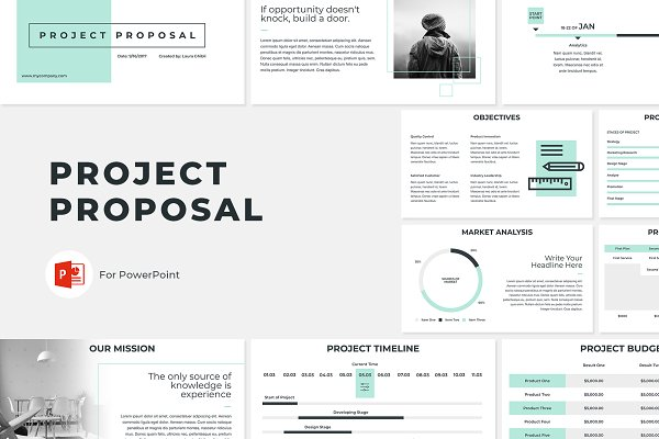 Project Plan Template Powerpoint from images.creativemarket.com
