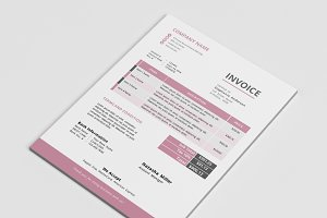 Clean docx Word corporate invoice