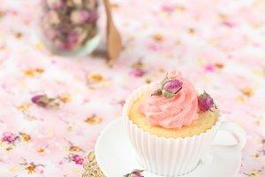 Lychee Rose Cupcake