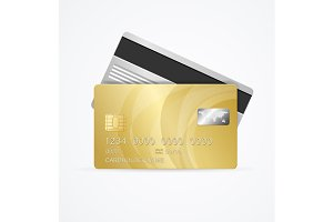 Golden Card Two Side. Vector