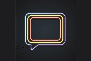 Neon Banner. Vector