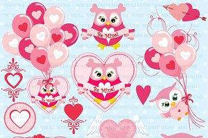 Valentine Clipart Owls AMB-1147